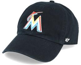 Miami Marlins Clean Up Black Adjustable - 47 Brand