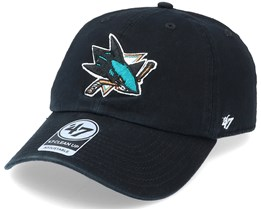 San Jose Sharks Clean Up Black Adjustable - 47 Brand