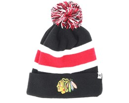 Chicago Blackhawks Breakaway Knit Black Pom - 47 Brand