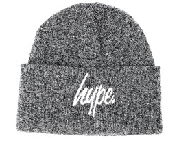 Hype Basic Grey Marl/White Beanie - Hype