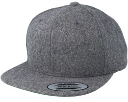 Heather Grey Wool Snapback - Yupoong