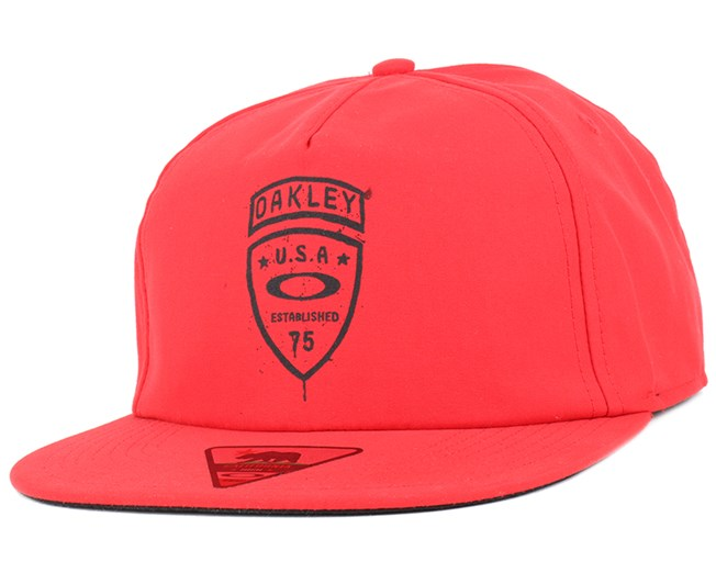 Foundation Red Line Snapback - Oakley