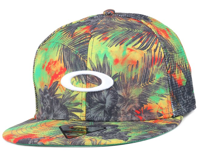 Mesh Sublimated Blazing Yellow Snapback - Oakley