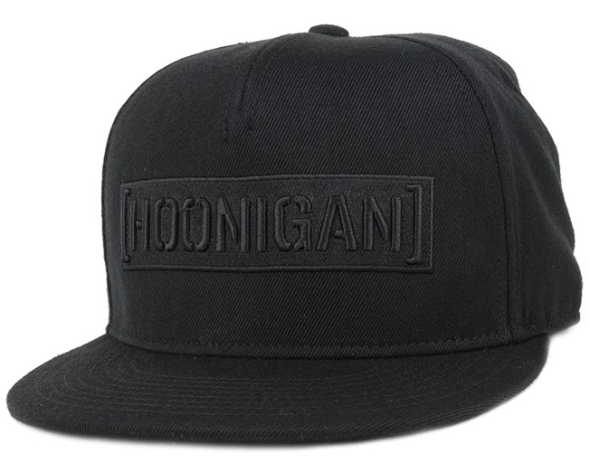Censor Bar Black/Black Snapback - Hoonigan
