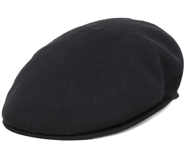 Tropic 504 Black Flat Cap - Kangol