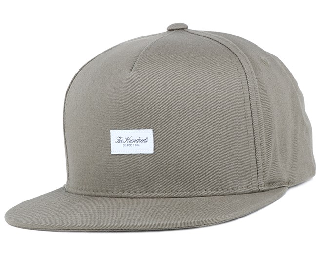 Script Dusty Olive Snapback - The Hundreds