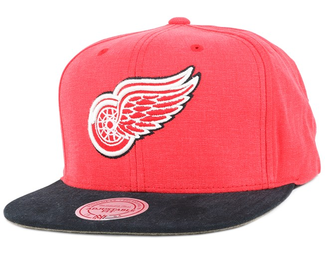 Detroit Red Wings Sandy Off White Snapback - Mitchell & Ness