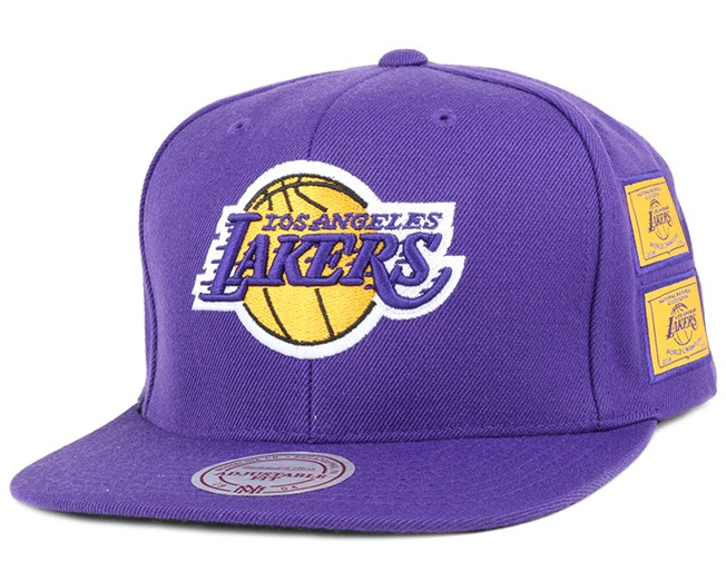 La Lakers Dynasty Purple Snapback - Mitchell & Ness