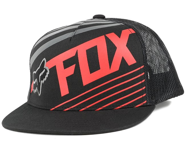 Kids Solvent Black Snapback - Fox