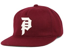 Dirty P Burgundy Strapback - Primitive Apparel