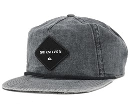 Grooved Black Strapback - Quiksilver