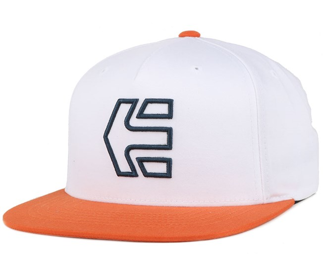 Icon 7 White/Orange Snapback - Etnies