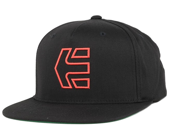Icon 7 Black/Red Snapback - Etnies