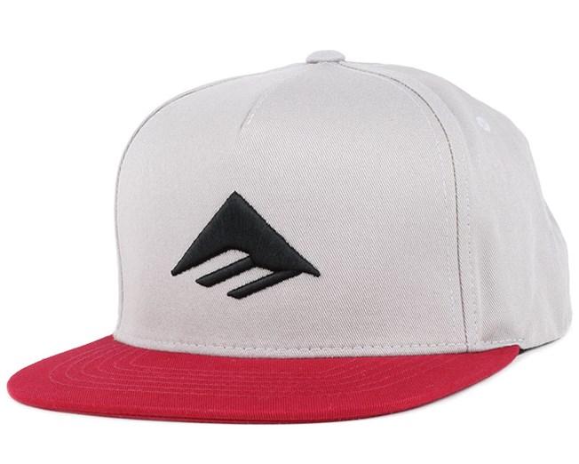 Triangle Grey/Red Snapback - Emerica
