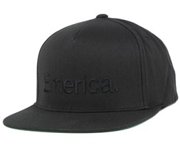 Pure Black/Black Snapback - Emerica
