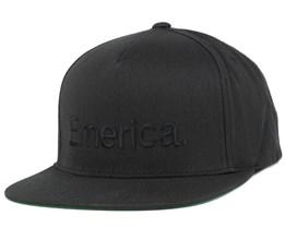Pure Black/Black Snapback - Emerica