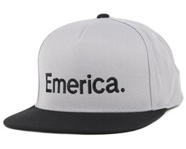 Pure Grey/Black Snapback - Emerica