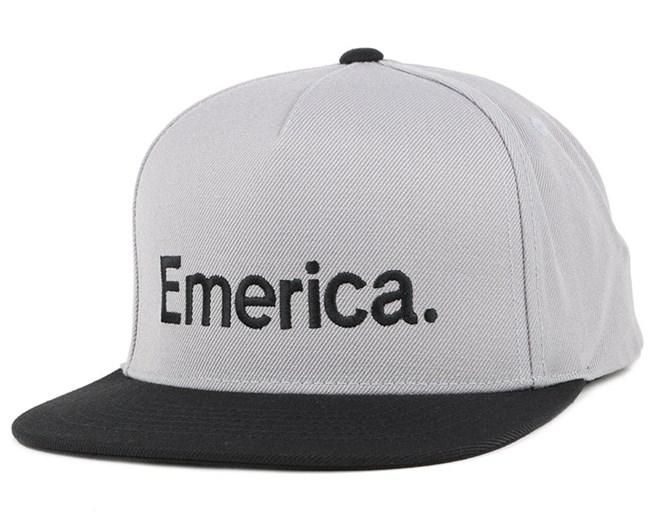 Pure Grey/Black Snapback - Emerica