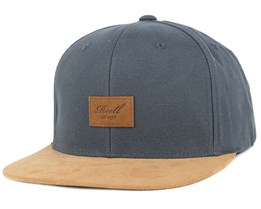 Suede Charcoal Snapback - Reell