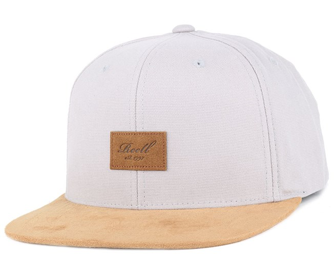 Suede Ice Grey Snapback - Reell