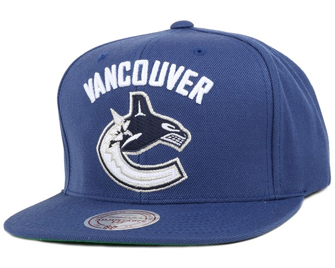 Vancouver Canucks Wool Solid 2 Snapback - Mitchell & Ness