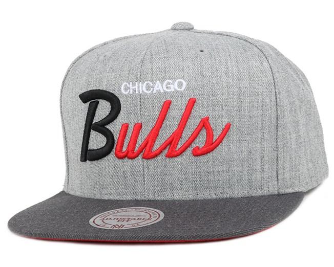 Chicago Bulls Heather Grey/Graphite Snapback - Mitchell & Ness