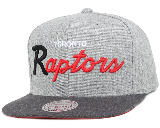 Toronto Raptors Heather Grey/Graphite Snapback - Mitchell & Ness