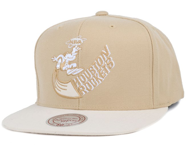 Houston Rockets Heather 2 Tone Sand Snapback - Mitchell & Ness