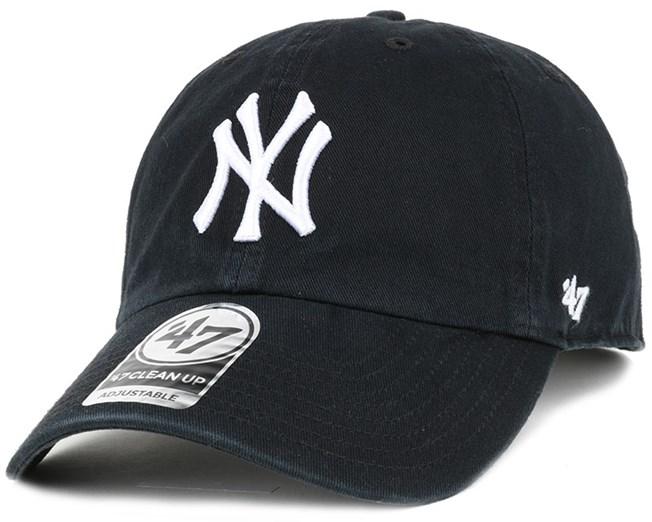 NY Yankees Clean Up Black Adjustable - 47 Brand