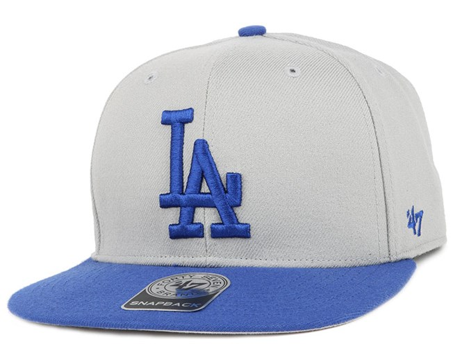 LA Dodgers Sure Shot 2 Tone Grey/Blue Snapback - 47 Brand