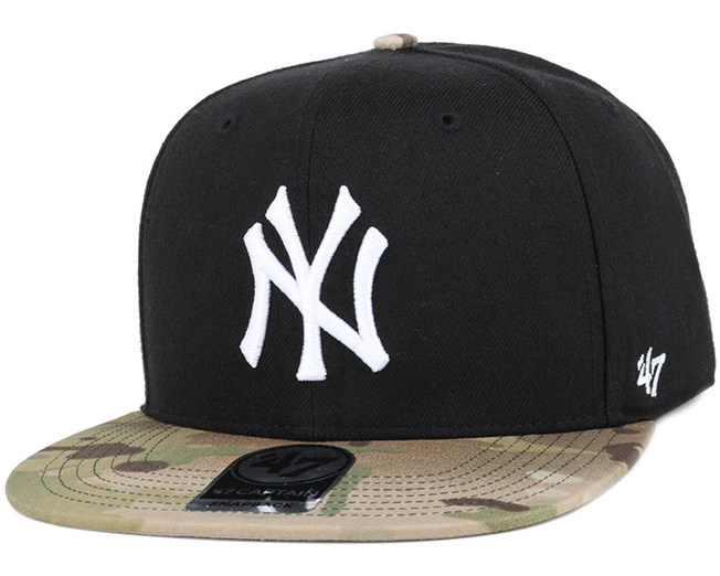NY Yankees Inferno Captain Black/Camo Snapback - 47 Brand