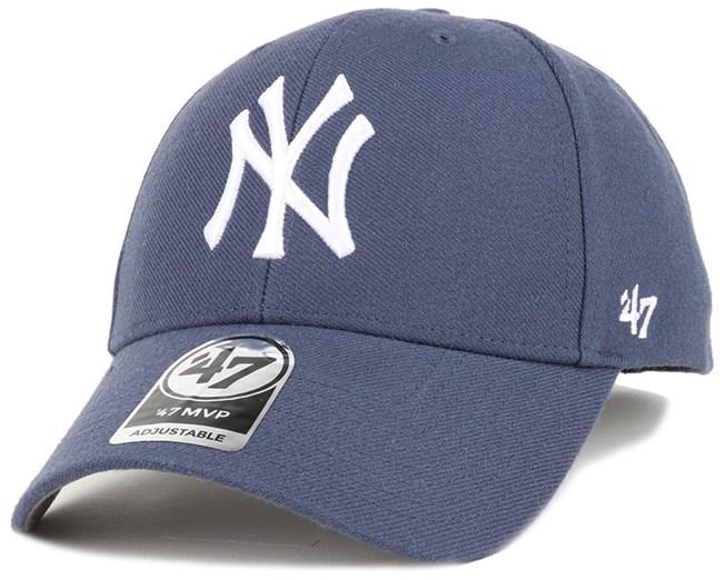 NY Yankees Mvp Timber Blue Adjustable - 47 Brand