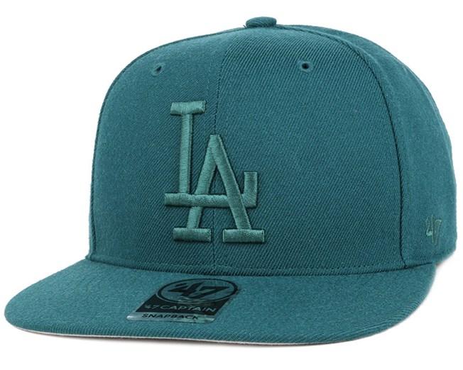 LA Dodgers No Shot Captain Pacific Green Snapback - 47 Brand