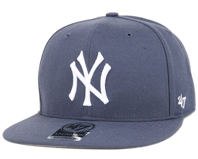 NY Yankees No Shot Captain Timber Blue/White Snapback - 47 Brand