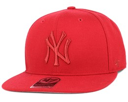 NY Yankees No Shot Metallic Captain Red Snapback - 47 Brand