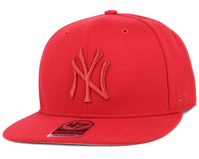 NY Yankees No Shot Metallic Captain Red Snapback - 47 Brand