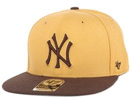 NY Yankees No Shot 2 Tone Captain Wheat Snapback - 47 Brand