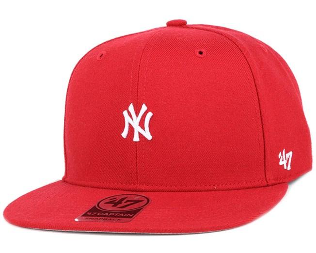 NY Yankees Centerfield Captain Red Snapback - 47 Brand