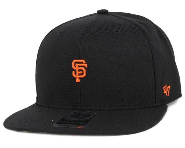 SF Giants Centerfield Captain Black Snapback - 47 Brand