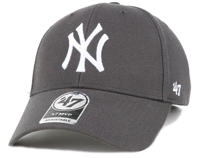 NY Yankees Mvp Charcoal Adjustable - 47 Brand