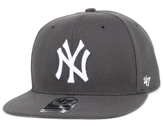 NY Yankees No Shot Captain Charcoal/White Snapback - 47 Brand