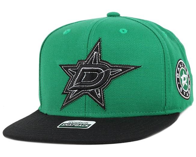 Dallas Stars Two Tone Green/Black Snapback - Reebok