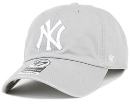 NY Yankees Clean Up Grey Adjustable - 47 Brand