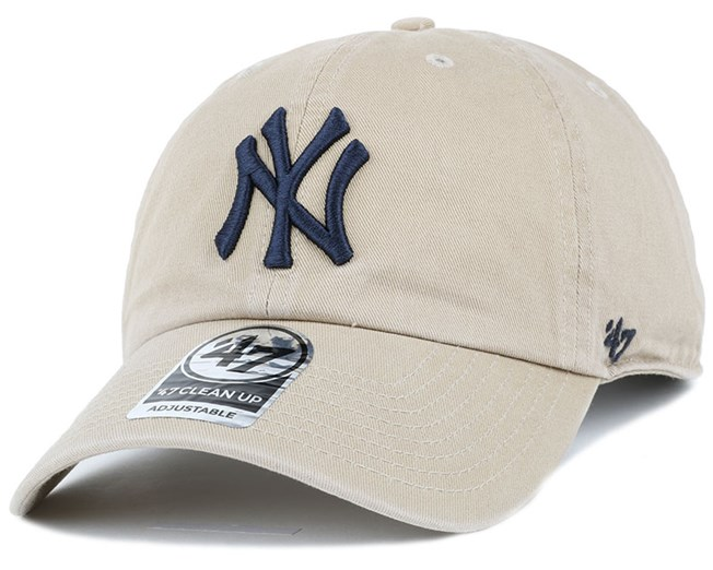 NY Yankees Clean Up Khaki Adjustable - 47 Brand