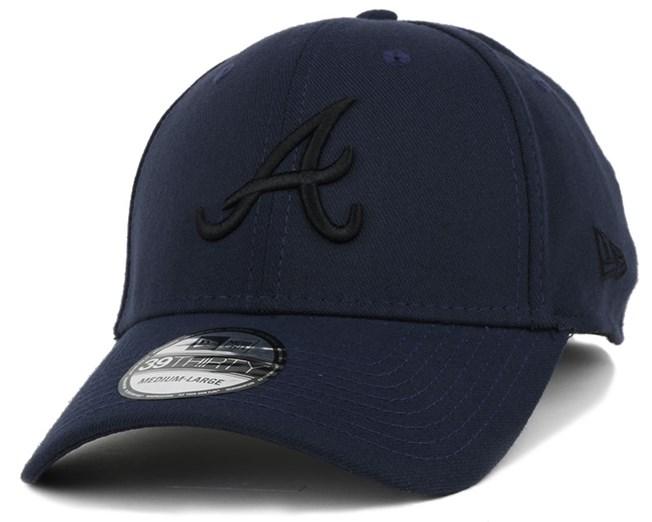 Atlanta Braves Seasonal Contrast Navy/Black 39Thirty Flexfit - New Era
