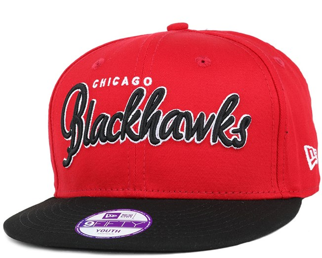Kids Chicago Blackhawks NHL Wordmark 9Fifty Snapback - New Era