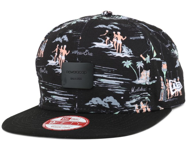 479d1a75433 Offshore Crown Patch Black Black 9Fifty Snapback - New Era caps ...