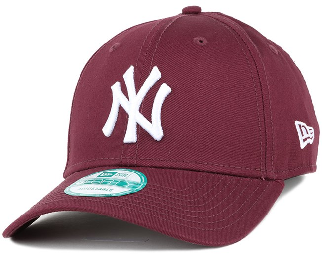 NY Yankees League Essential Maroon 940 Adjustable - New Era