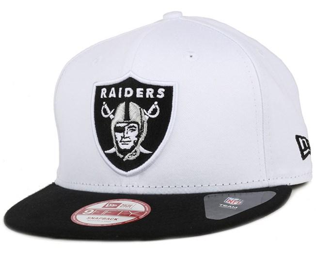 Oakland Raiders Jersey Team White/Black 9Fifty Snapback - New Era