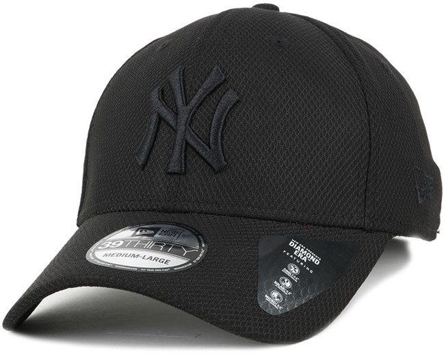 NY Yankees Diamon Era Essential Black 39Thirty Flexfit - New Era
